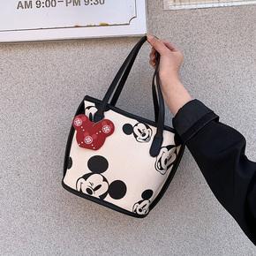 大容量包包女2020新款潮网红上班帆布拎包饭盒手提包单肩米奇大包