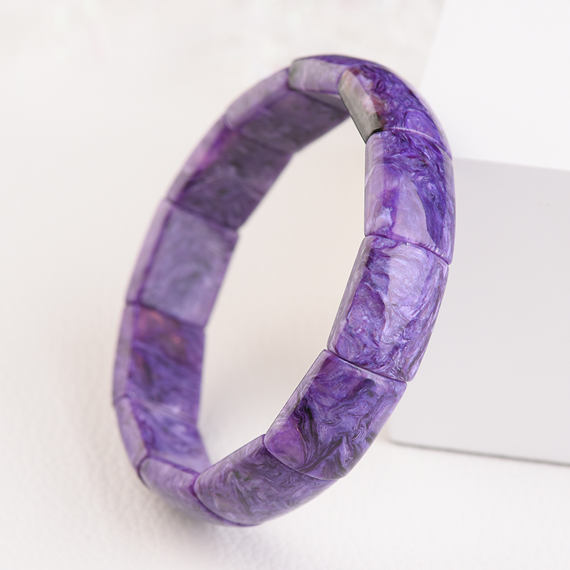 Natural Purple Dragon Crystal Bracelet womens rare vision big dragon pattern color is rich, texture is delicate and rich purple