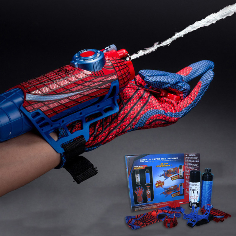 Equipped with boys real toy spider man launcher black technology spit small wrist wristband rope spray silk