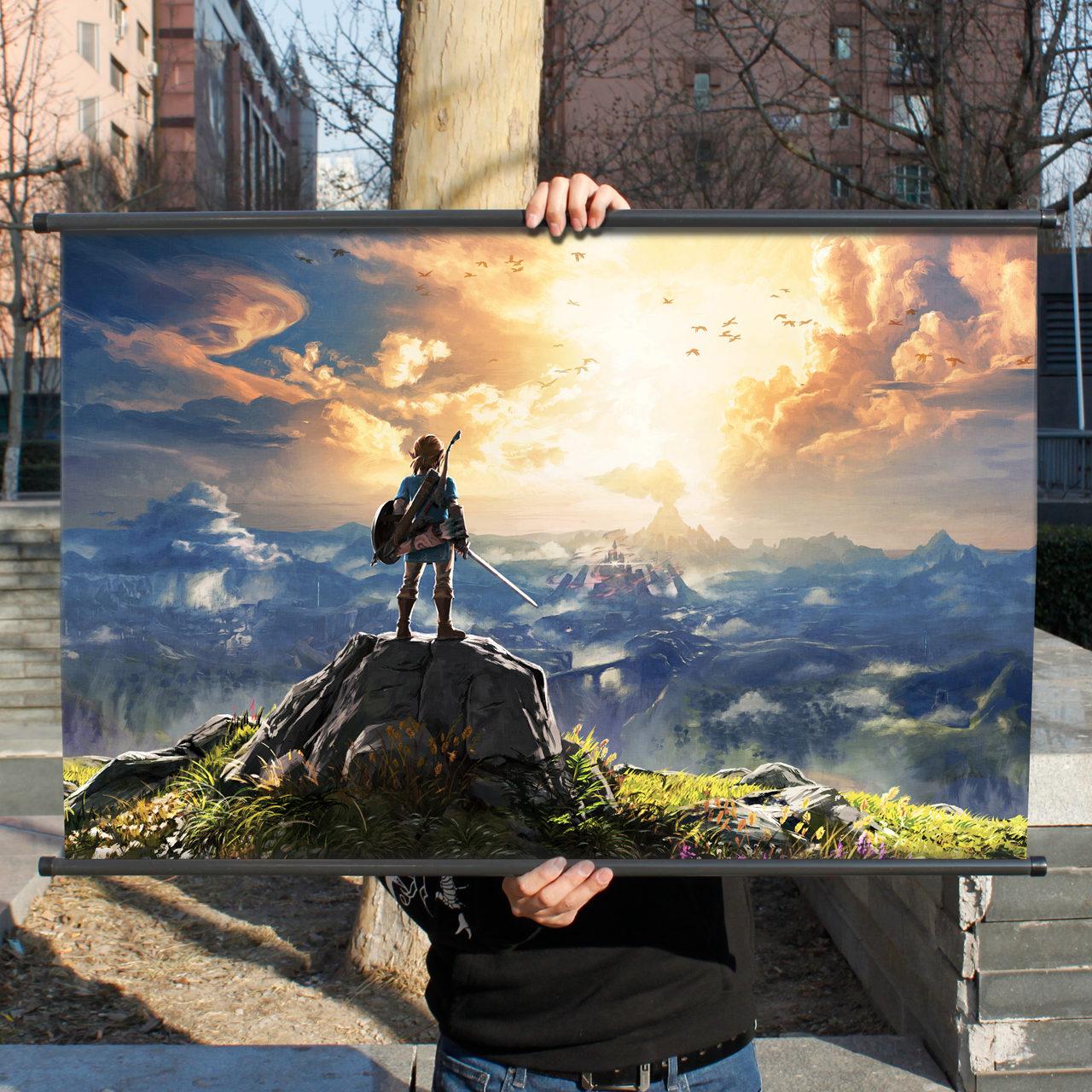 塞尔达传说荒野之息游戏周边二次元海报挂画林克旷野之息