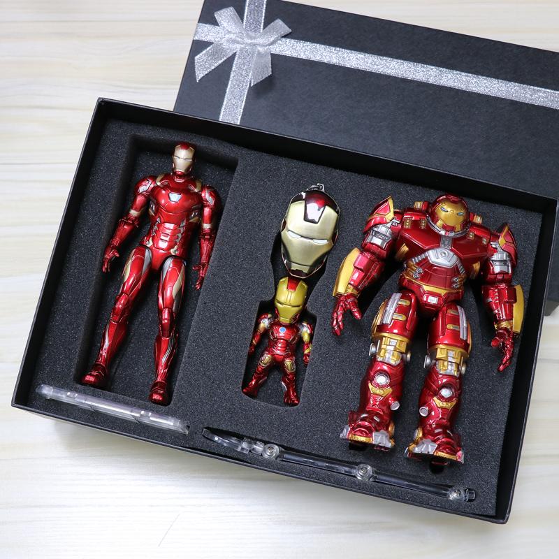 钢铁侠反浩克装甲手办 MK44模型人偶可动 复仇者联盟玩具生日礼物