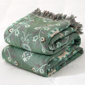 莎舍纯棉纱布毛巾被双人盖毯夏季薄款被子单人毯子夏天午睡空调毯