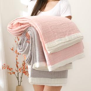 莎舍四层纯棉毛巾被单双人纱布夏凉被盖毯全棉毛巾毯夏季宿舍床单