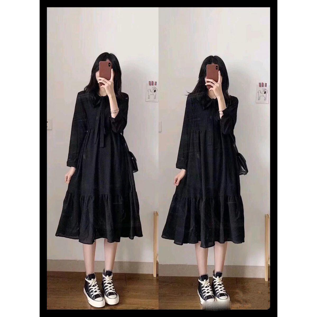 单/套装2021春秋季新款女学生韩版网红小清新马甲+连衣裙女两件套