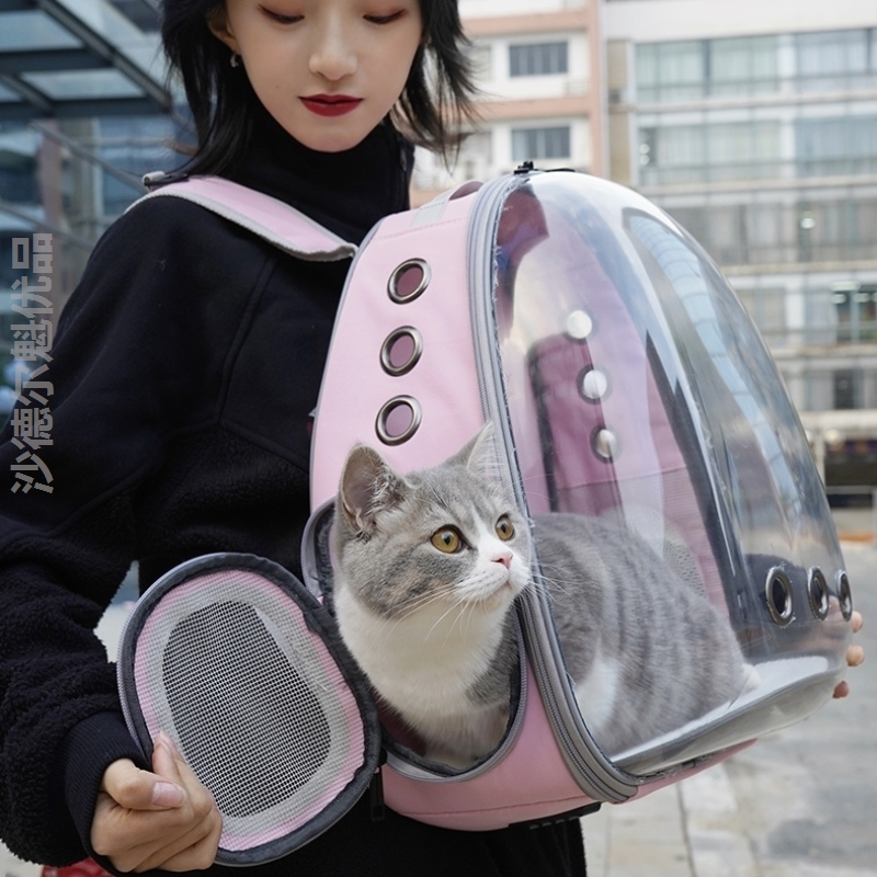Backpack, cat bag, air bag, medium-sized shopping mall, outdoor travel capsule, easy to use and beautiful pet