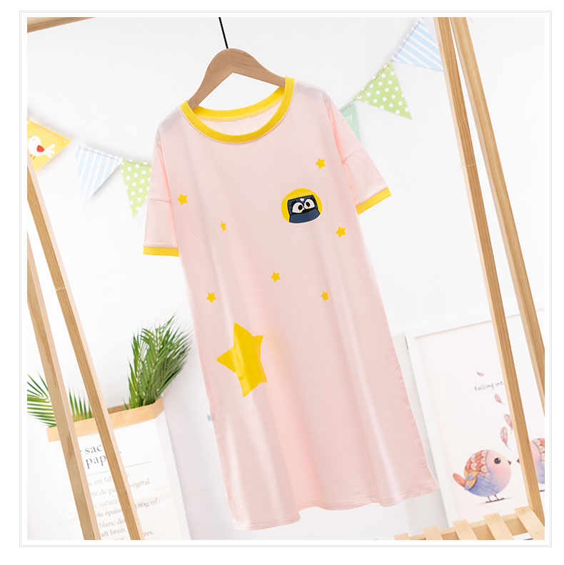 Ruyis new summer product: Zhongda childrens home wear nvbao short sleeve cotton dress set with thin boys Nightgown