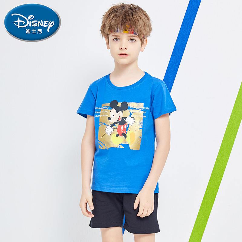 迪士尼童装夏装2021新款男女童夏装T恤中大童纯棉短袖儿童衣服潮淘宝优惠券