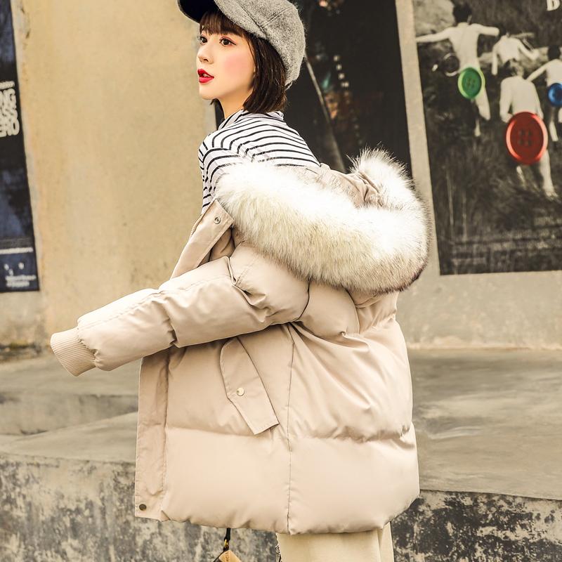 棉袄2019年新款韩版宽松棉衣羽绒棉服女中长款面包服冬季bf外套潮