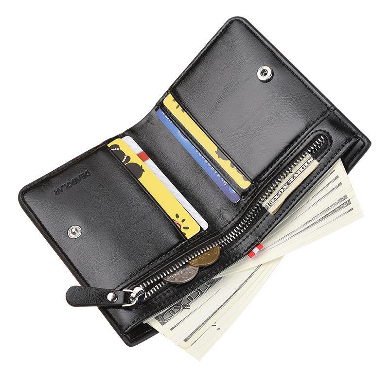 复古钱包二合一钱包大学生男日系零卡包男潮ins个性多功能零钱包