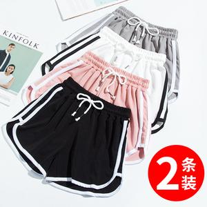 运动女夏宽松外穿ins潮高腰短裤