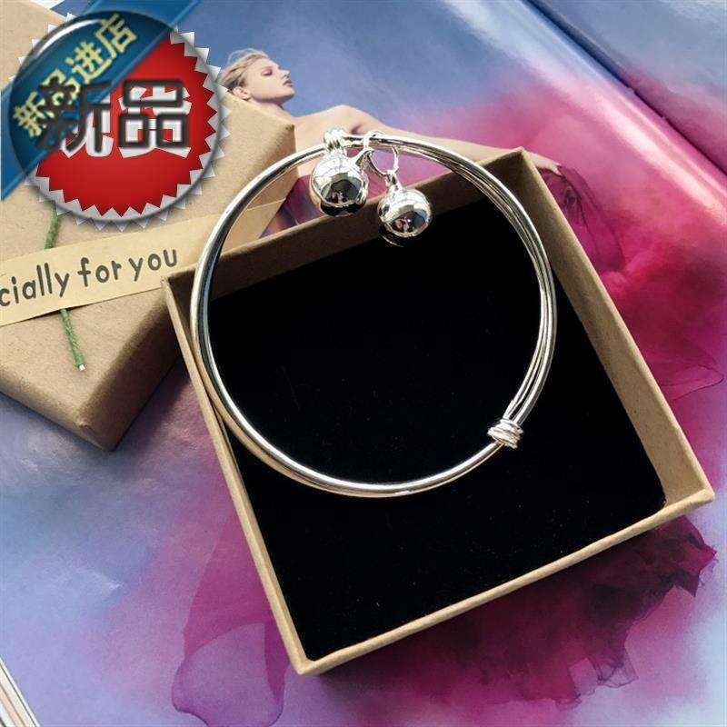 New Korean 44 version small g fresh bell Bracelet Silver Fashion Chain girl r smooth simple versatile temperament