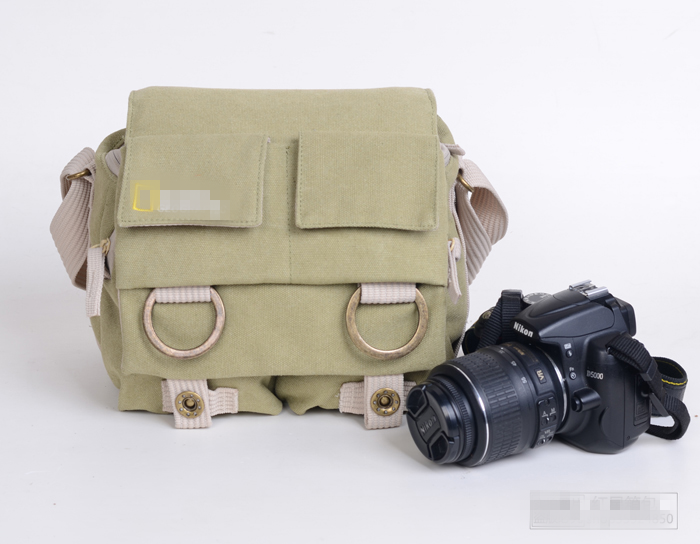 国家地理NG2345款单肩摄影包男女单反相机包休闲数码帆布相机包