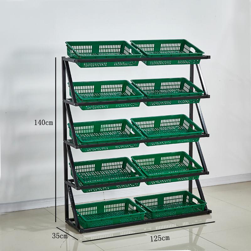 超市水果蔬菜货架展示架置物架创意多层菜架商用便利店架子果蔬架