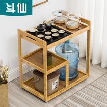家用茶台可移动茶车简约泡茶架功夫茶具烧水壶全自动一体茶盘套装
