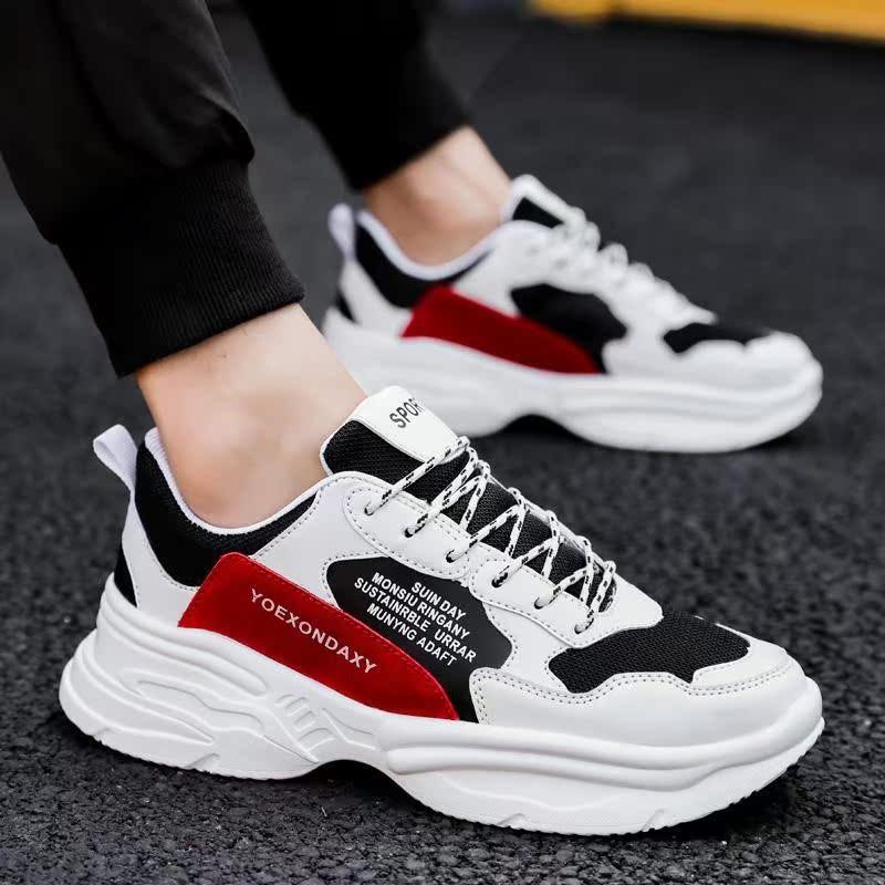 2020新款春季男鞋子韩版潮流网面运动学生男士跑步休闲老爹鞋