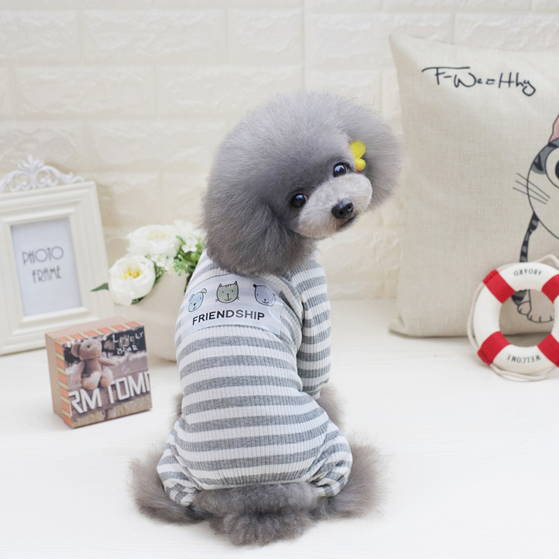 Dog clothes, spring summer pajamas, Teddy, bear, Bomei, small dog, pet, spring good friend, home clothes, thin
