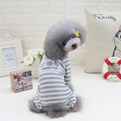 狗狗衣服春夏装睡衣泰迪比熊博美小型犬宠物春季好朋友居家服薄款