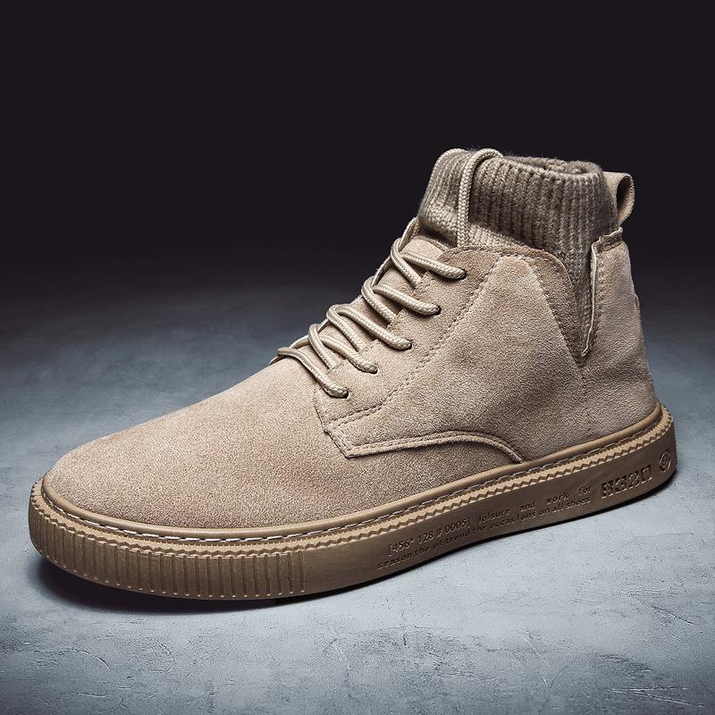 情侣马丁靴 CL7818户外工装靴马丁靴爆款短靴高帮男鞋39-44