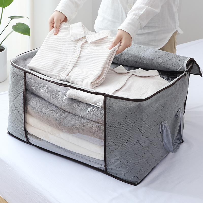 Extra large, thickened, moisture-proof clothes, cotton quilt storage bag, kindergarten sorting, moving luggage, packing and storage bag