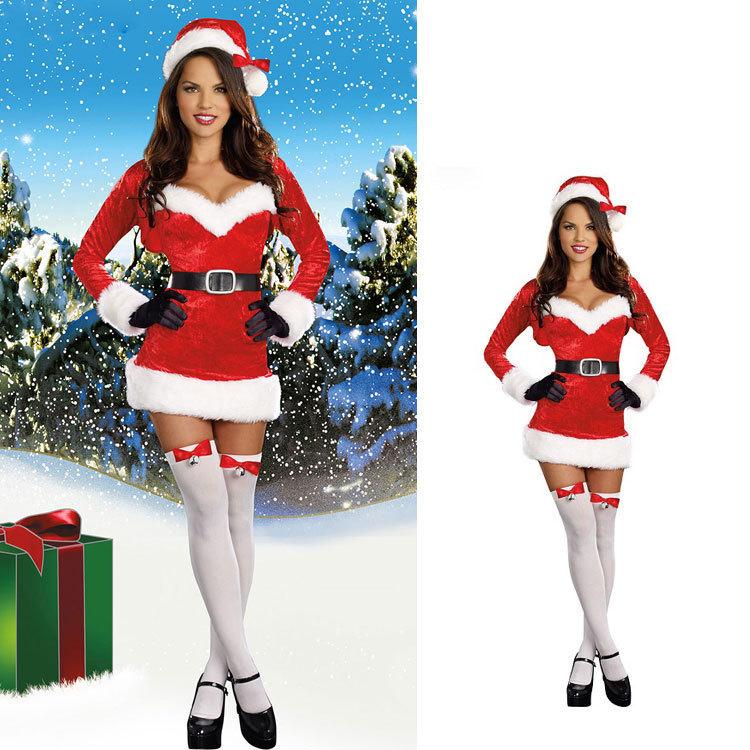 圣诞节服酒吧ds狂欢派对装长袖圣诞装圣诞服欧美外贸表演服装冬季
