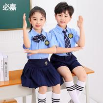 幼儿园园服夏装儿童校服套装小学生夏季英伦学院风班服毕业照短袖