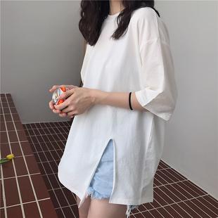 裙子女夏ulzzang原宿風ins超火短袖t恤2020韓版學生百搭半袖上衣
