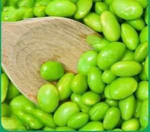农家新鲜蔬菜现摘带壳大粒青毛豆