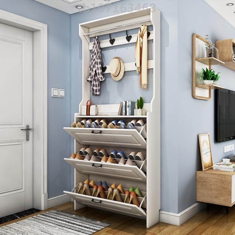 经济型鞋柜带衣架大型家居大容量家用门口公寓加厚主卧室多功能合