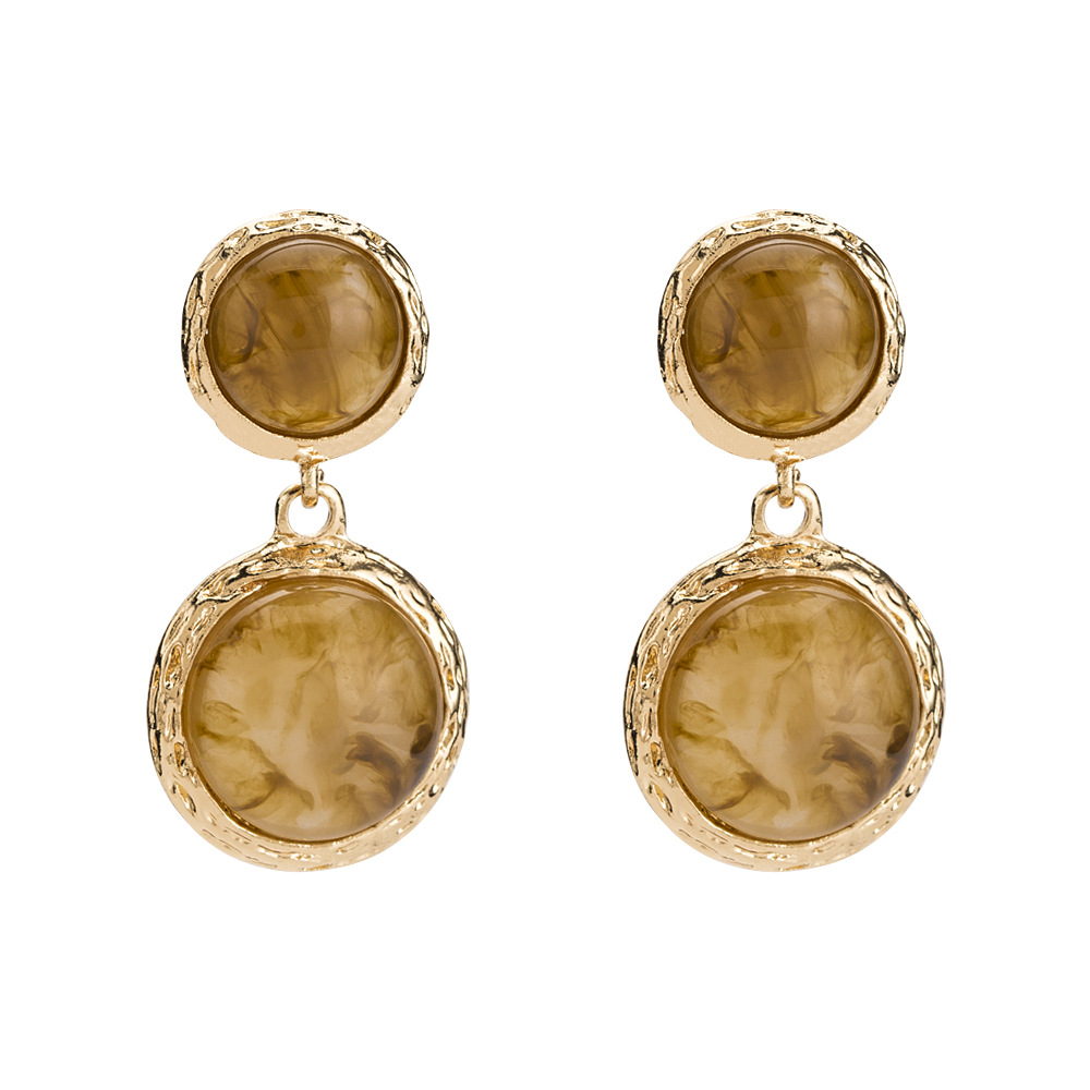 208 sumitong new fashion spherical Earrings stereo geometry Earrings hemispherical accessories factory price