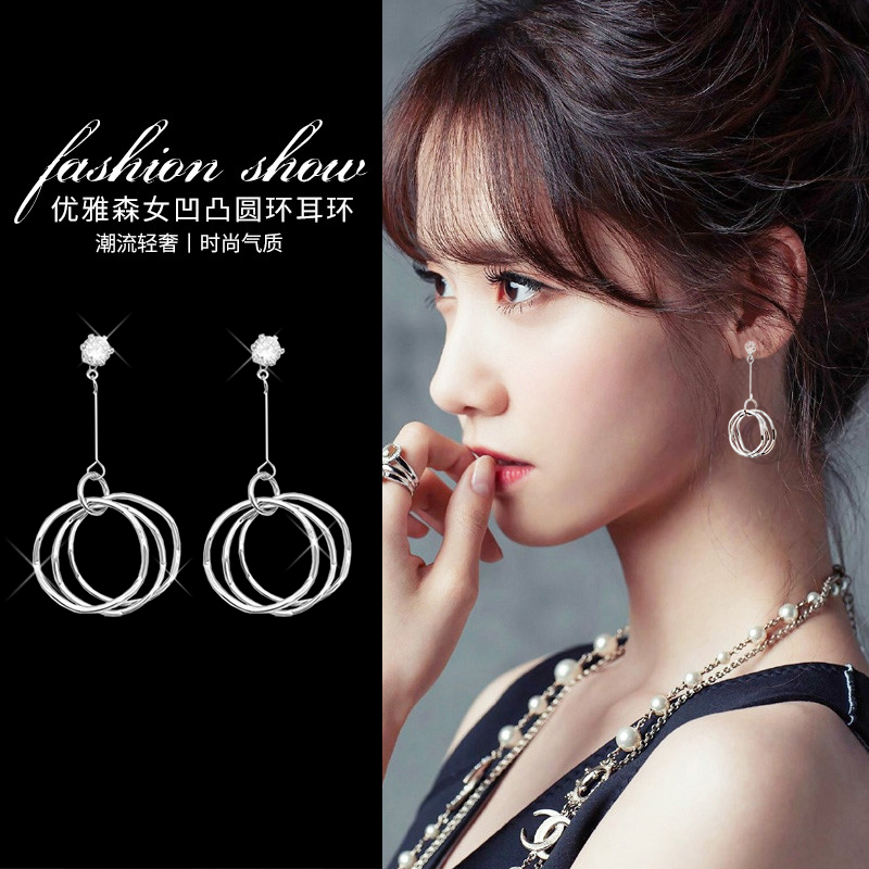 Ln fake Earrings simple temperament circle ear clip without ear hole female ear clip without hole