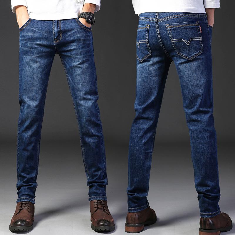 春季青年男士运动裤韩版大码牛仔裤