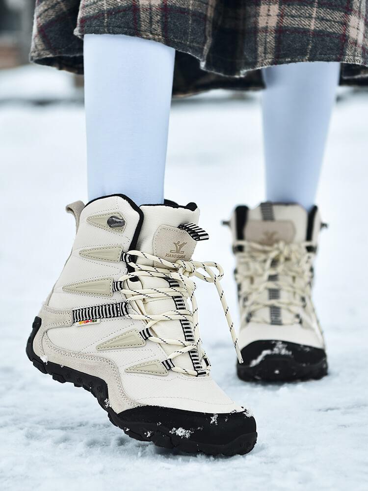 新款男鞋东北户外雪地靴女冬季保暖加绒厚底短靴防水防滑大码棉鞋