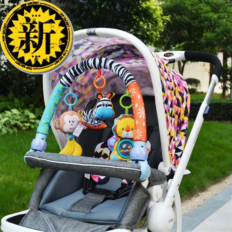 婴儿床铃床挂推车车挂车j夹玩具婴儿玩具0-1岁带牙胶bb器包邮