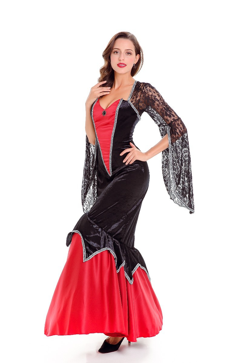 Wang Zhuang Sexy Costume role play dance DS costume Vampire Halloween Costume Adult Female