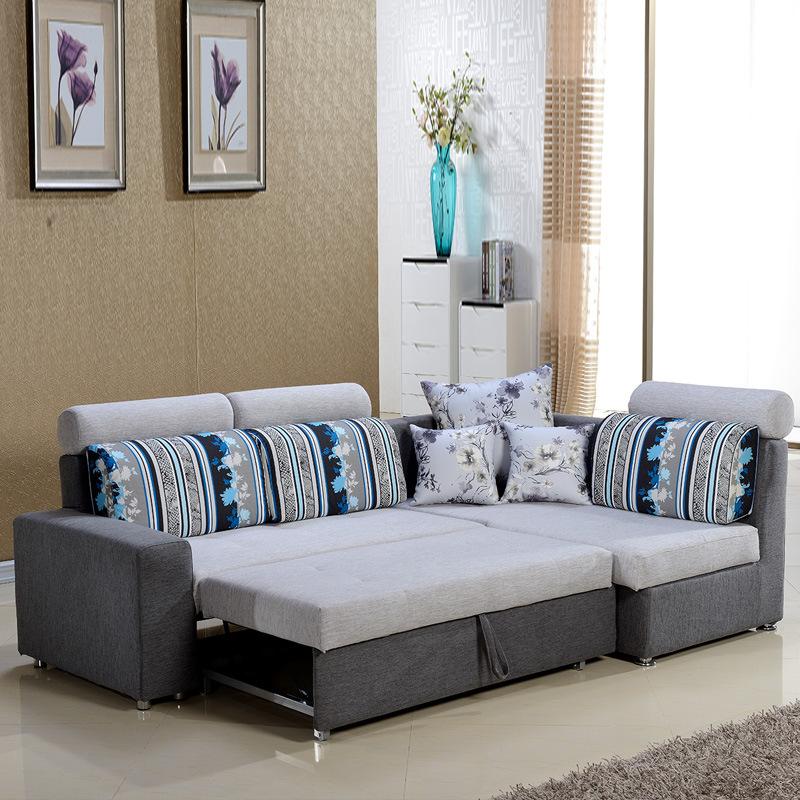 ソファーの多機能両用ソファベッド仏山家具北欧小部屋型ソファセット布芸収納物を折り畳むことができます。