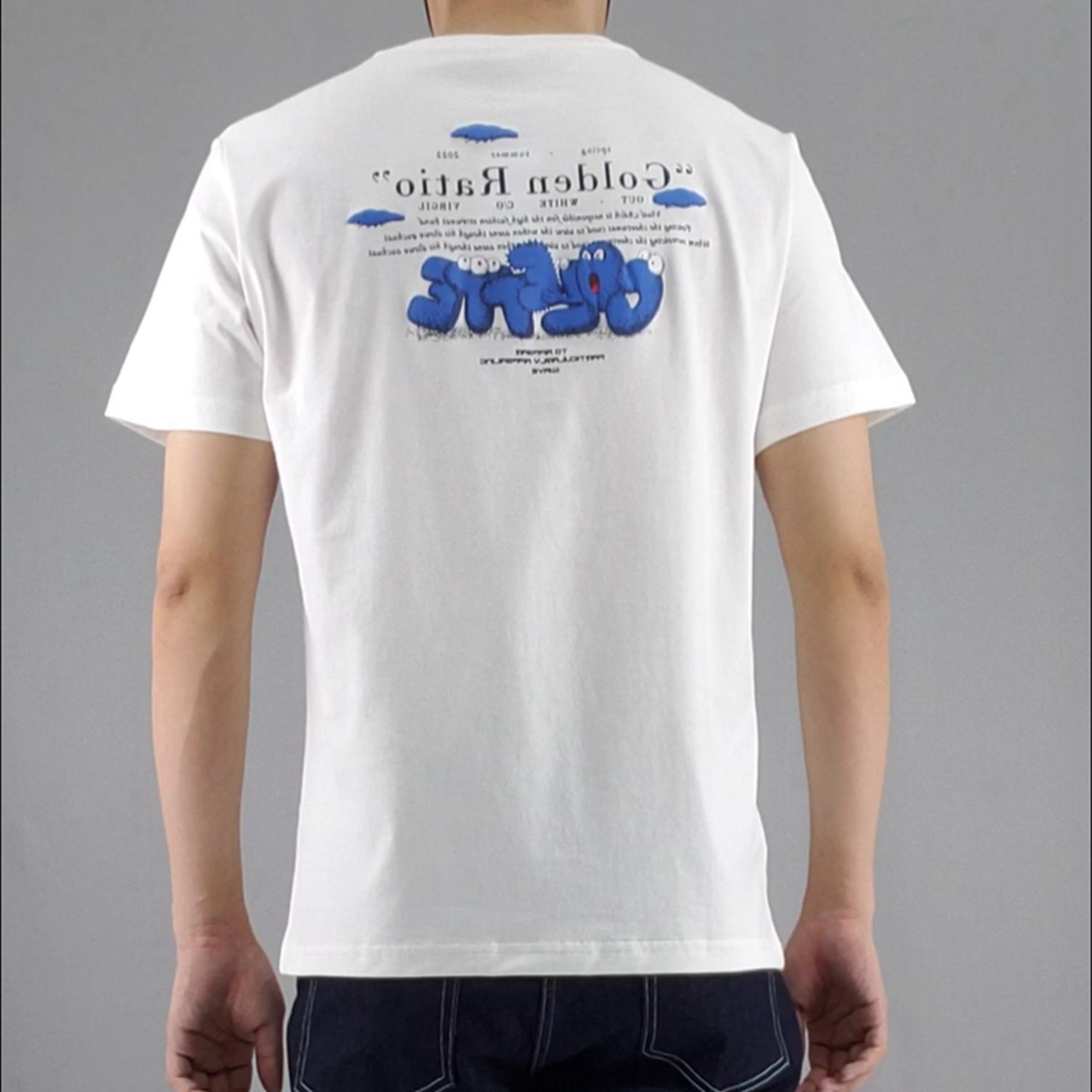 短袖T恤男小清新款夏季萌趣印花上衣舒适纯棉体恤衫学生男士半袖