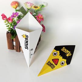 薯条盒三角薯条打包锥形薯条鸡米花包装盒盒中号小号一次性小吃盒图片