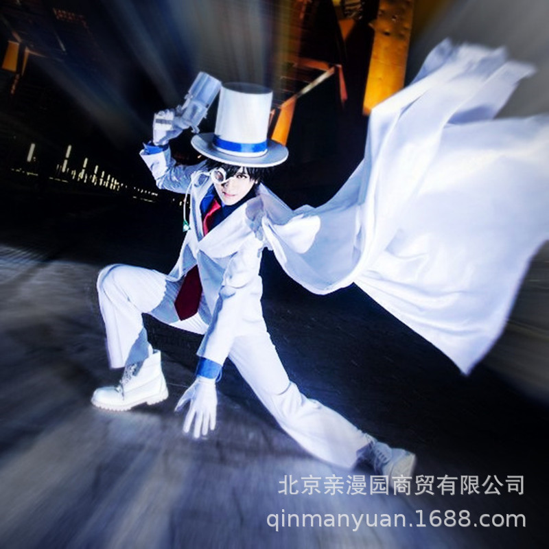 Detective Conan magic fast fight 1412 black feather fast fight outlaw Kidd clothes show party Cosplay clothes