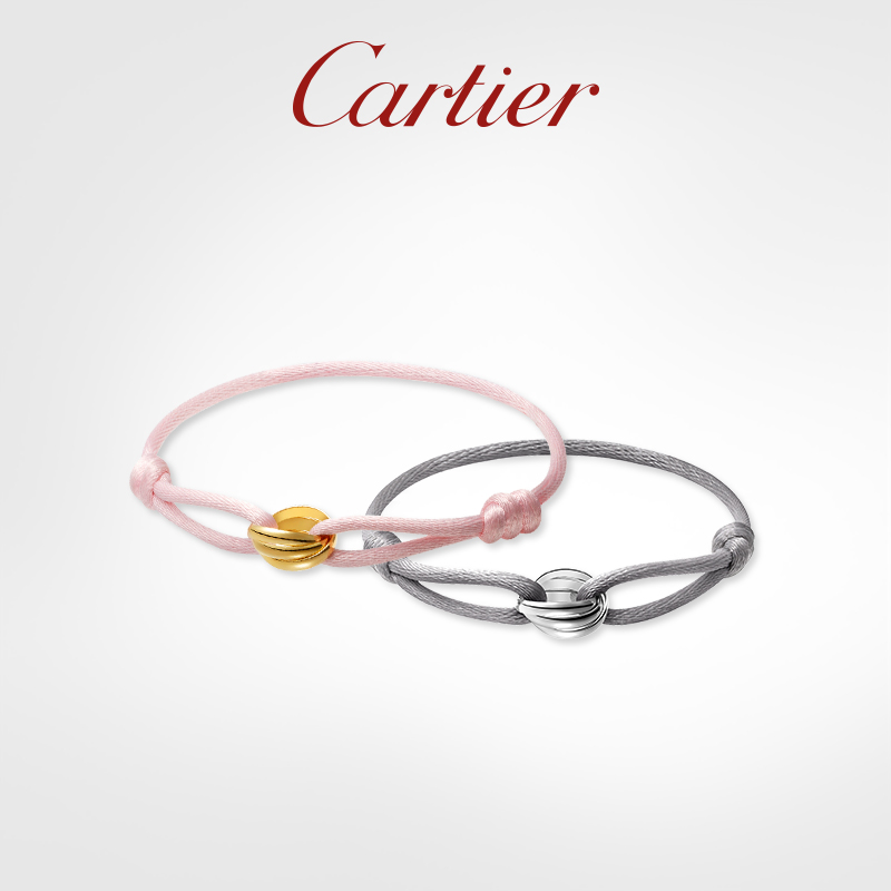 Cartier Trinity series new hand rope gold platinum hand rope bracelet