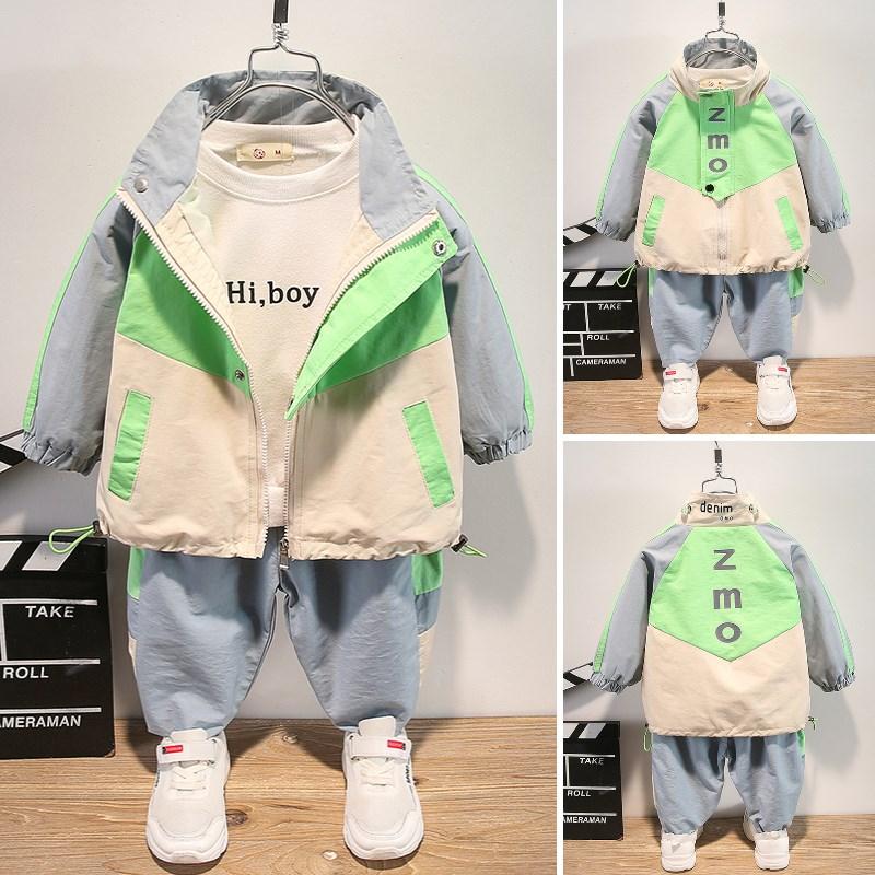 童装男童秋装套装2020新款洋气儿童韩版两件套小童帅气春秋衣服潮