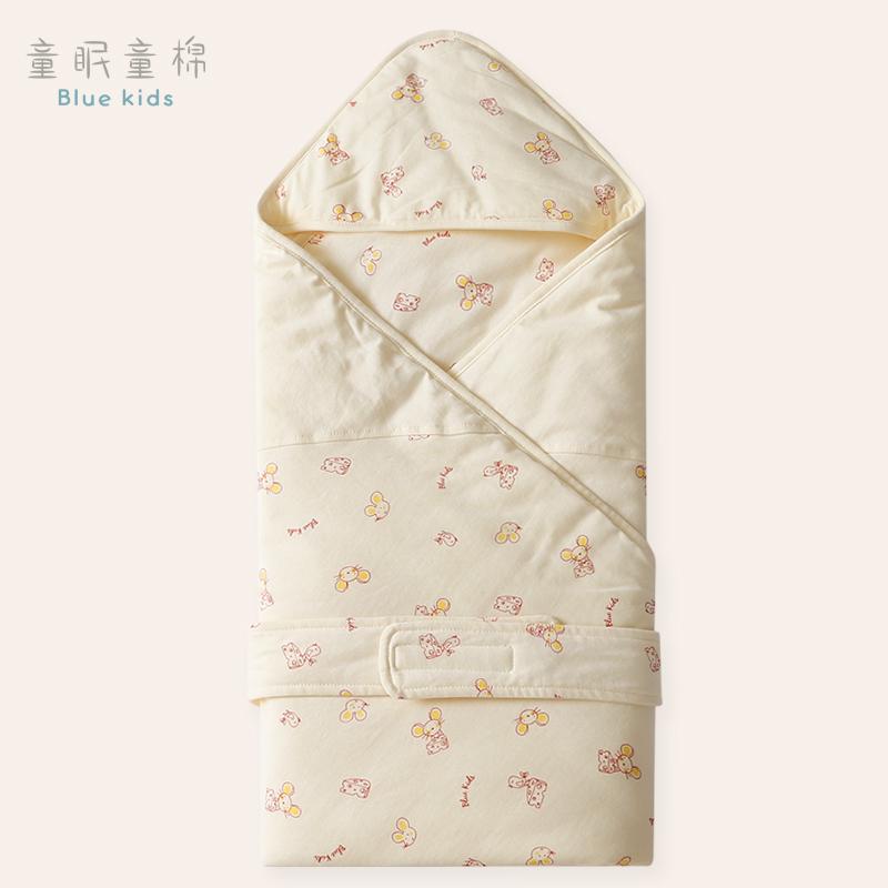 童眠童棉新生儿包被纯棉初生婴儿抱被春秋被子夏季薄款产房襁褓巾