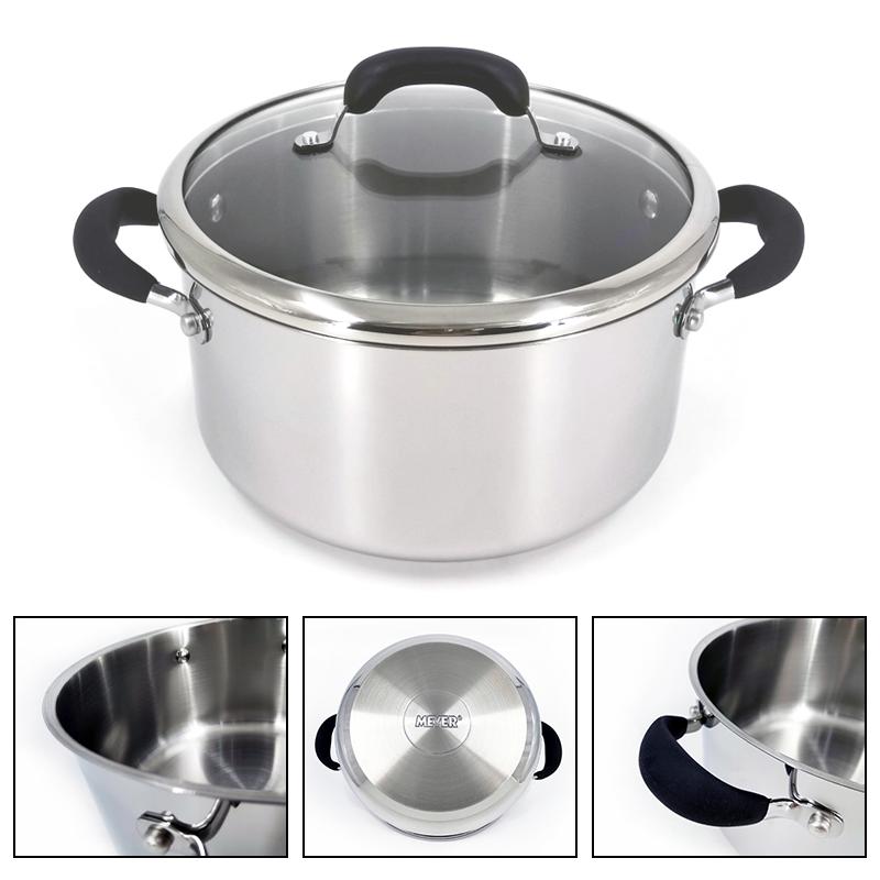 MEYER美亚厨具24公分不锈钢汤煲家用燃气炉电磁炉通用