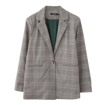 260 kg fat sister oversize womens 240 check temperament suit 230 extra fat Korean casual suit cardigan