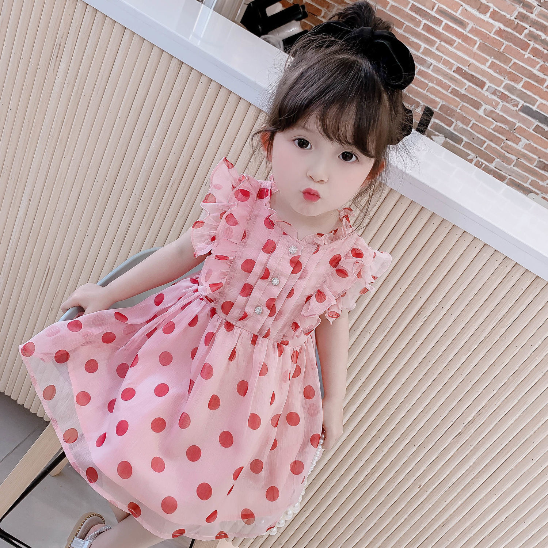 中國代購|中國批發-ibuy99|雪纺裙|女童夏装连衣裙2021新款中小童裙子女宝宝夏季童装儿童网红雪纺裙