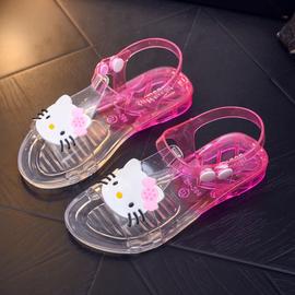 女童凉鞋透明水晶儿童小童宝宝果冻鞋软底防滑老式凉鞋防水夏季新