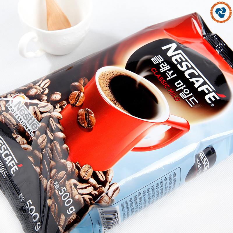 South Korea original imported Nestle coffee instant 500g classic bag instant black 500g sugar free without partner