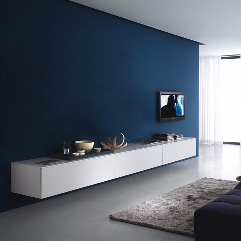 北欧电视柜现代简约轻奢意式极简挂墙壁挂式悬挂墙柜烤漆客厅白色