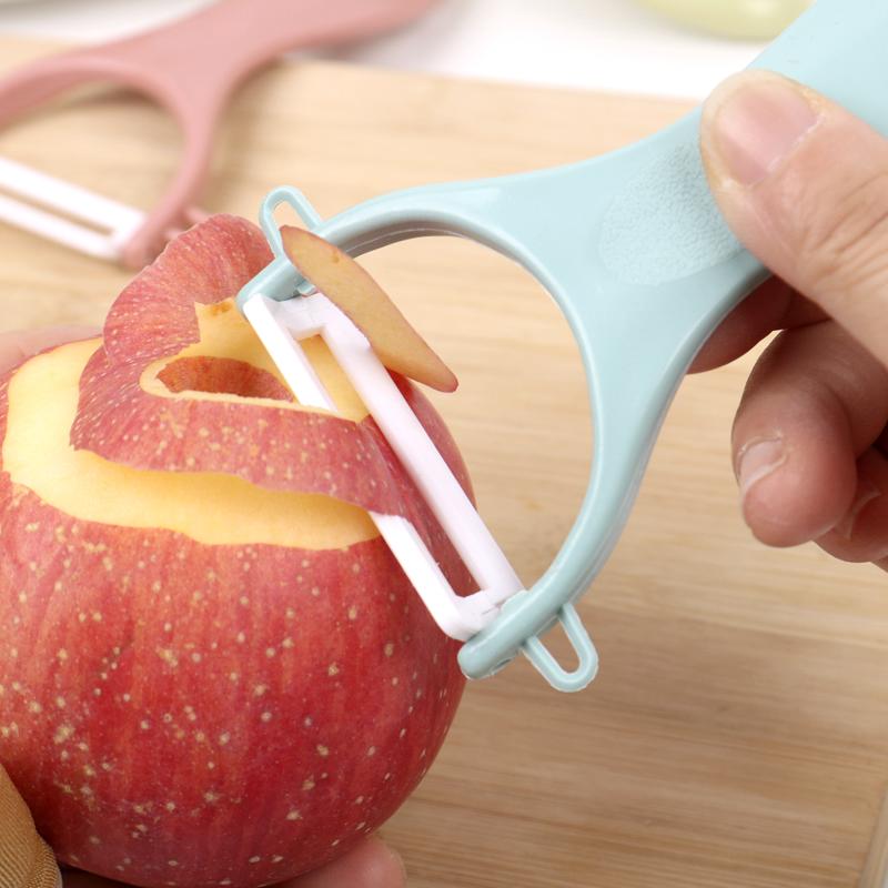 陶瓷水果削皮器厨房多功能削皮刀家用削苹果刮皮刀削土豆刨刀