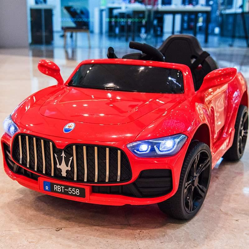 马萨拉蒂儿童电动车四轮带遥控汽车可坐小孩童车宝宝玩具车可坐人