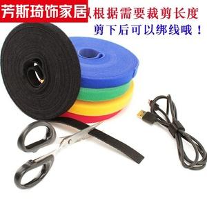 自锁式彩色扎带绑电线收纳整理固定线束线理线带线扣电脑周边扎。